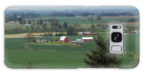 Red Barn Galaxy Case by Judyann Matthews