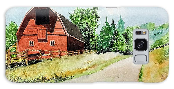 Red Barn Near Steamboat Springs Galaxy Case by Tom Riggs