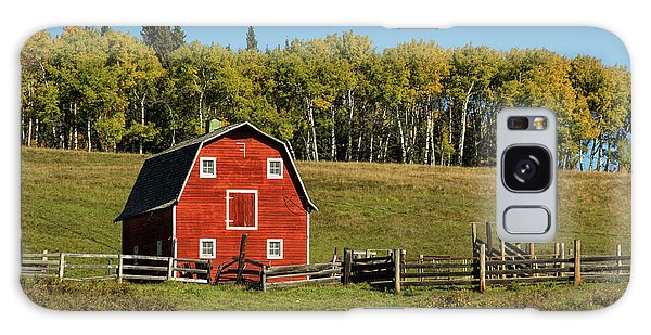 Red Barn On The Hill Galaxy Case