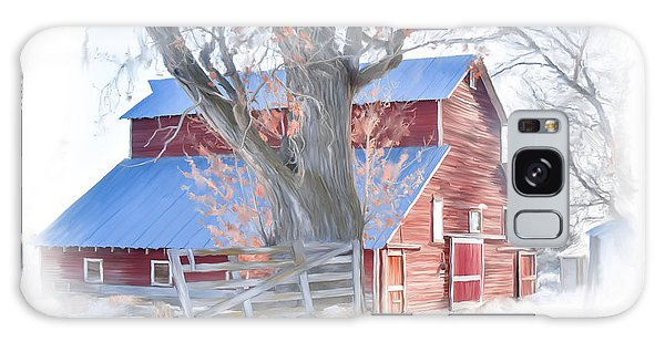 Red Barn On York Drive Galaxy Case