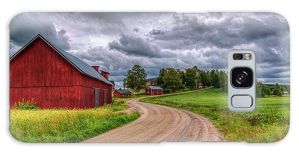 Cottage Galaxy Case - Red Barn by Veikko Suikkanen