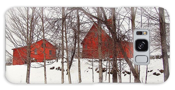 Red Barns Galaxy Case by Betsy Zimmerli