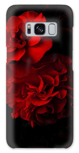 Red Begonia Galaxy Case