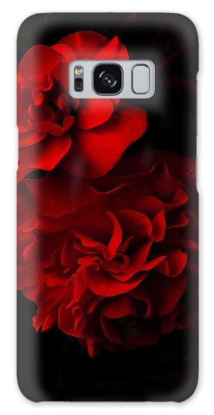 Red Begonia Galaxy Case