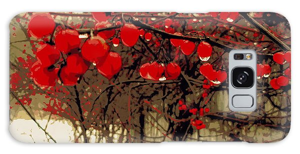 Red Berries In Winter Galaxy Case by Susan Lafleur