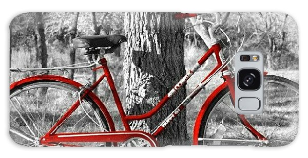 Transportation Galaxy Case - Red Bicycle II by James Granberry