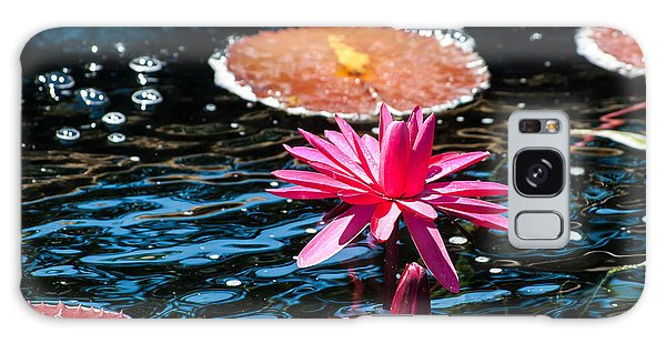 Red Blossom Water Lily Galaxy Case