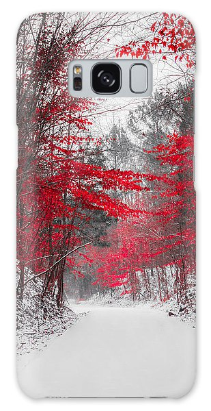 Red Blossoms  Galaxy Case