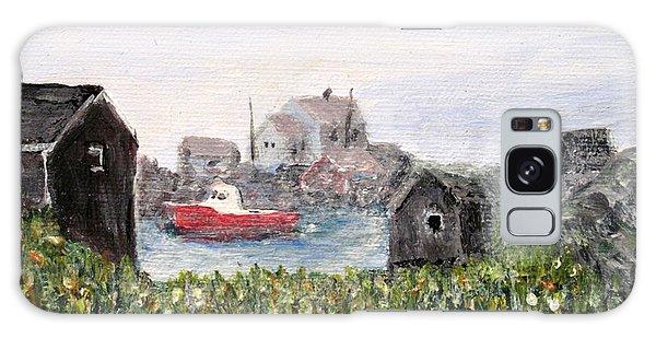 Red Boat In Peggys Cove Nova Scotia  Galaxy Case