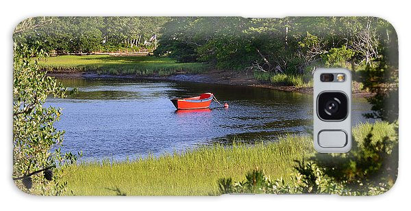 Red Boat On The Herring River Galaxy Case