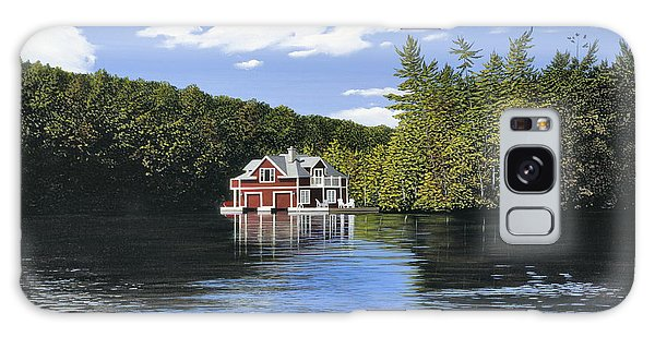 Red Boathouse Galaxy Case