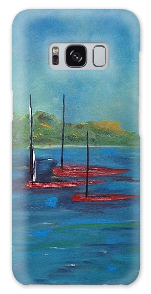 Galaxy Case featuring the painting Red Boats by Judith Rhue