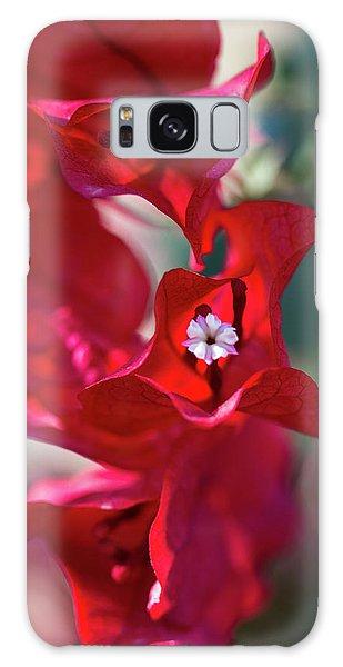 Red Bougainvillea Galaxy Case