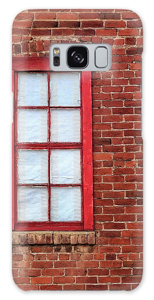 Red Brick And Window Galaxy Case by James Eddy
