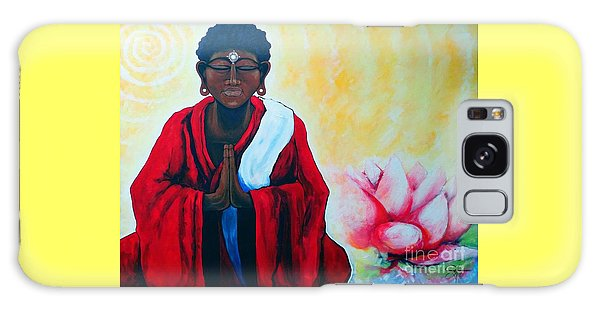 Red Buddha Lotus Galaxy Case