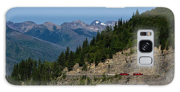Red Buses, Glacier National Park Galaxy Case