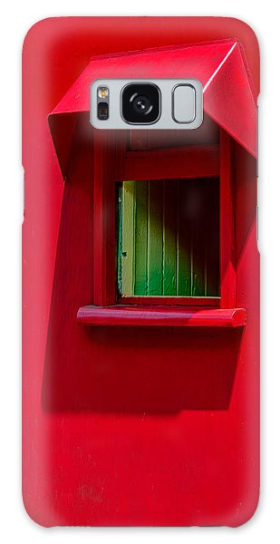 Red Caboose Window In Shade Galaxy Case