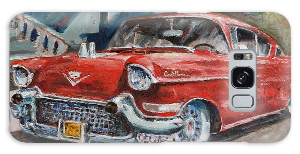 Red Caddy Galaxy Case by William Reed