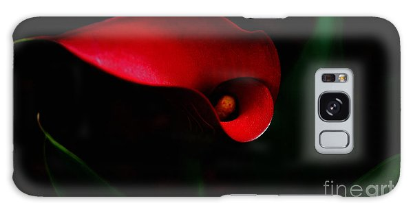 Red Calla Lilly Galaxy Case by Debra Crank