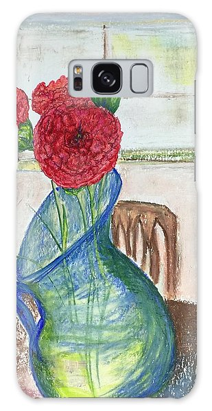 Red Carnations Galaxy Case