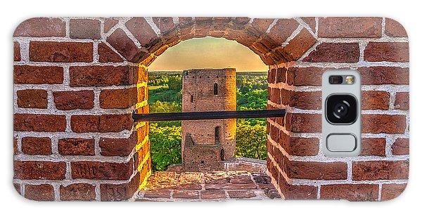 Red Castle Window View Galaxy Case