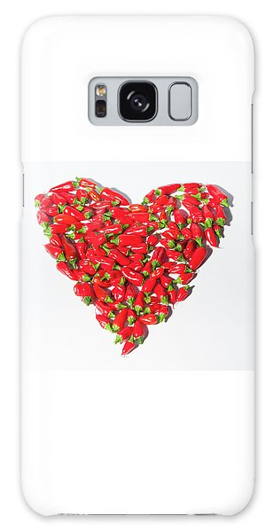 Red Chillie Heart II Galaxy Case