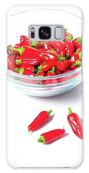 Red Chillies In A Bowl II Galaxy Case