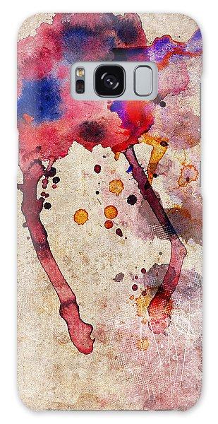 Red Color Splash Galaxy Case