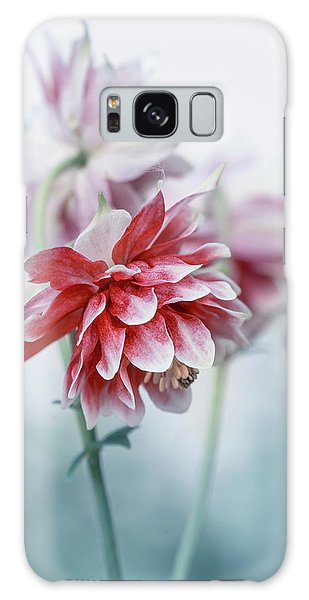 Red Columbines Galaxy Case