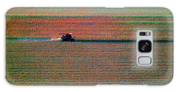 Red Combine Harvesting  Mchenry Aerial Galaxy Case