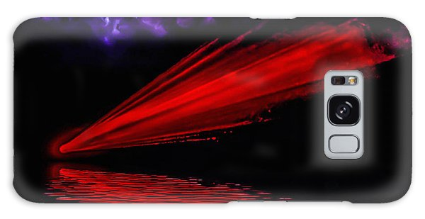 Red Comet Galaxy Case by Naomi Burgess
