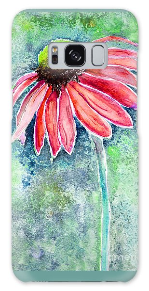 Galaxy Case featuring the painting Red Cone Flower 9-1-15 by Mas Art Studio