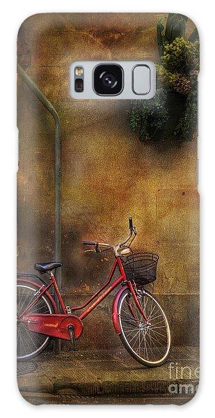 Red Crown Bicycle Galaxy Case by Craig J Satterlee