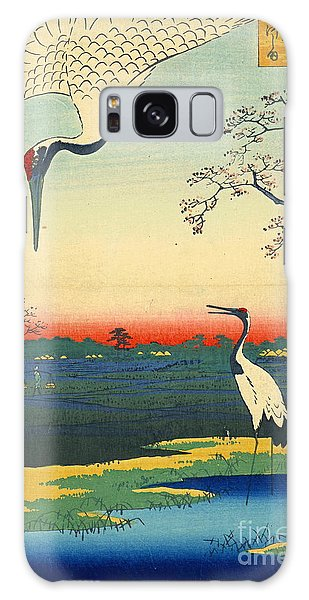 Red Crowned Cranes 1857 Galaxy Case by Padre Art