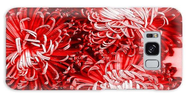 Red Crysanthiam Galaxy Case by Carolyn Repka