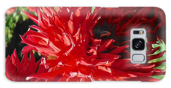 Red Dahlia Pizazz  Galaxy Case