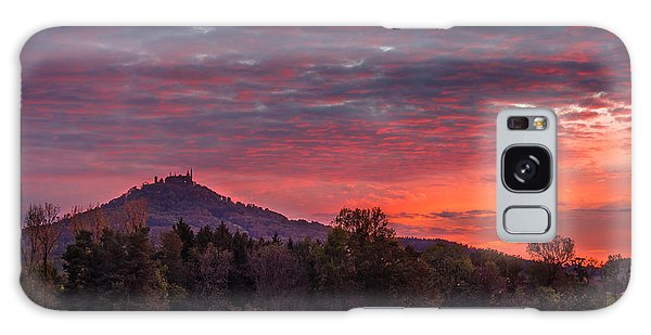 Red Dawn Over The Hohenzollern Castle Galaxy Case