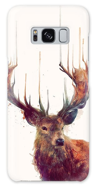 Red Deer Galaxy Case by Amy Hamilton