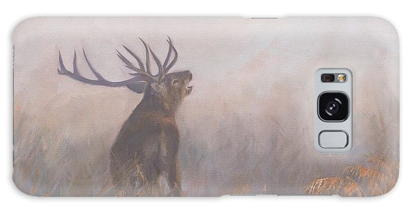 Red Deer Stag Early Morning Galaxy Case by David Stribbling