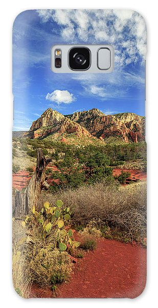 Red Dirt And Cactus In Sedona Galaxy Case by James Eddy