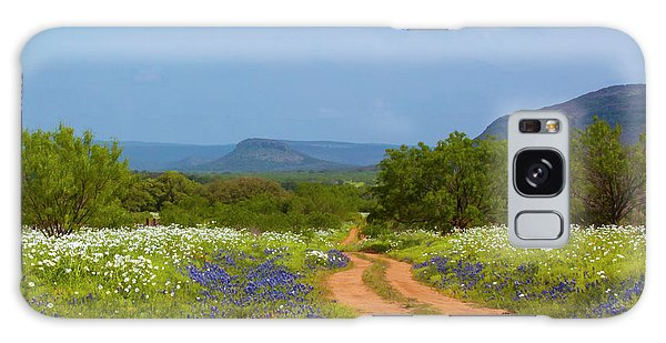 Red Dirt Road With Wild Flowers Galaxy Case