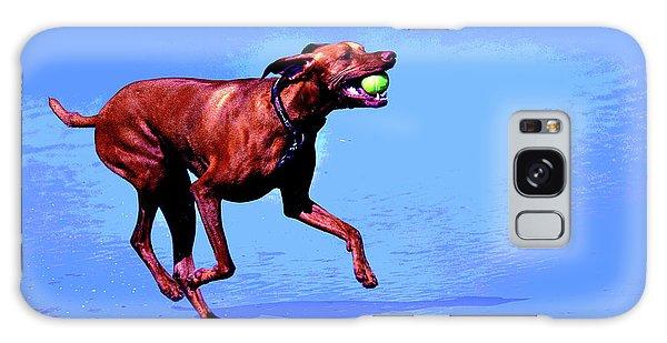 Red Dog Running Galaxy Case