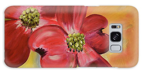 Red Dogwood - Canvas Wine Art Galaxy Case