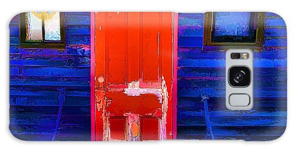 Red Door Harbor Galaxy Case by Rick Bragan