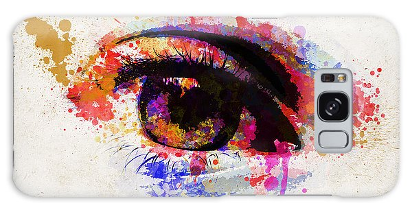 Light Paint Galaxy Case - Red Eye Watercolor by Delphimages Photo Creations