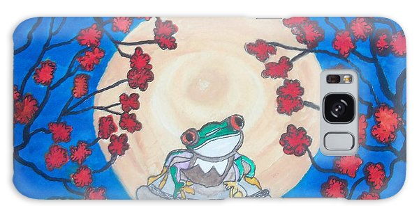 Red Eyed Frog Singing To The Moon Galaxy Case by Connie Valasco