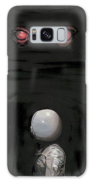 Red Eyes Galaxy Case by Scott Listfield