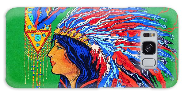 Red Feathers Galaxy Case by Debbie Chamberlin