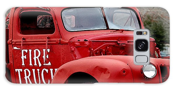 Red Fire Truck Galaxy Case