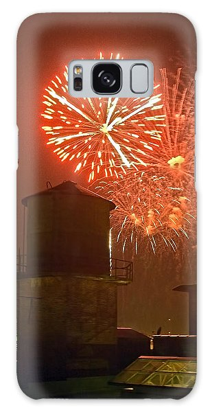 Red Fireworks Galaxy Case